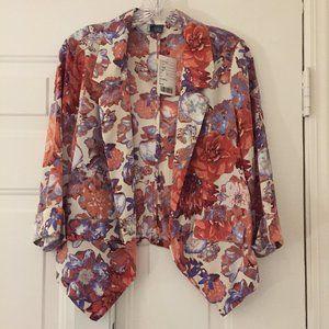 Anthropologie Sparkle & Fade floral jacket